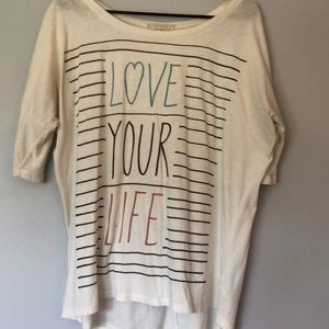 Tops - Medium size love your life shirt